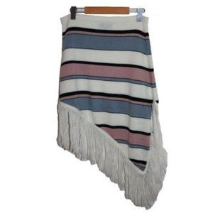 Beechers Brook Asymmetrical Striped Blanket Skirt